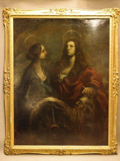 BIG Antique Oil Painting C1830